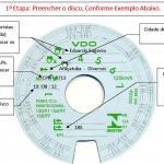 Disco diagrama para tacógrafo