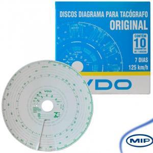 DISCO DE TACÓGRAFO SEMANAL 125KM/H