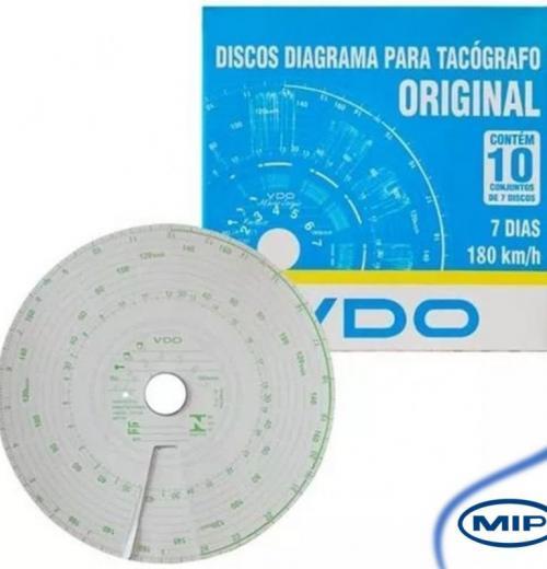 DISCO DE TACÓGRAFO SEMANAL 180KM/H